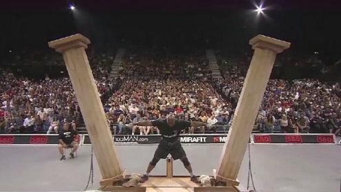 世界上力气最大的人,手握两根罗马柱,世界纪录至今无人能破
