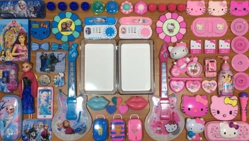 粉色小猫咪,蓝色芭比公主,史莱姆大作战,满足你的强迫症!