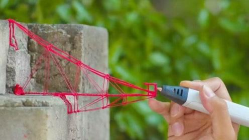 小伙用3D打印笔来修补围墙,竟然补出艺术感,网友:太优秀了!