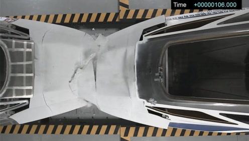 砰!中车高速列车时速76km实车对撞实验 结果令人震惊!