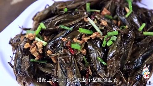 密集恐惧症慎入!美女用昆虫做美味菜肴,网友:贝爷的最爱!