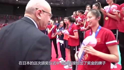 中国女排夺冠奖金,对比足球世界杯,连零头都不到差距太明显