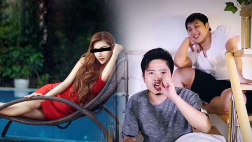 小伙在游泳馆玩到晚上,一位红衣女子一直跟着他!