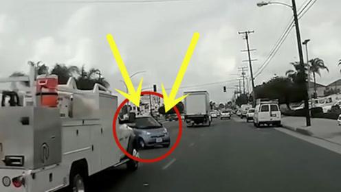 马路行驶一定要严遵交规,鬼探头的车一辆,就后悔终生!
