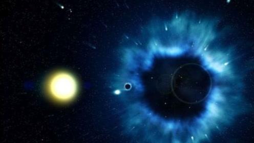 3个黑洞的互相吞噬!是少见的3个!它们在一起会发生什么呢?