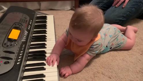 一首钢琴曲过后,狗狗动作亮了!趴地上不动!