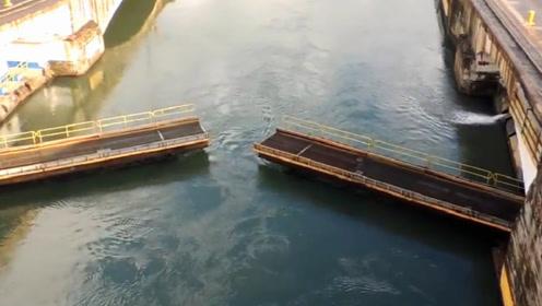 世界知名的巴拿马运河是什么样子呢?老外实地拍摄,感觉有点牛