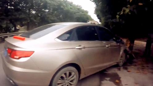 男子驾车途中与父亲发生口角 车辆撞上行道树2人均受伤