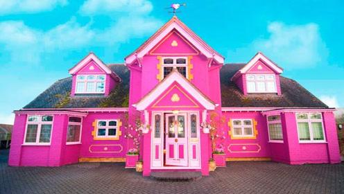 女子用10年成就芭比梦,亲自改造粉红城堡,想不想参观一下呢?