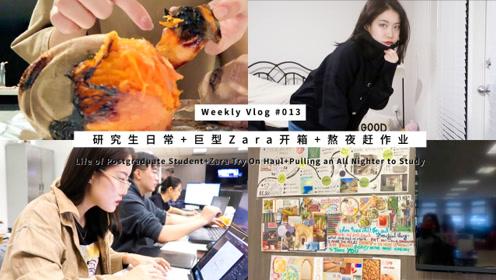 Weekly Vlog 13:研究生日常+巨型Zara开箱+熬夜赶作业