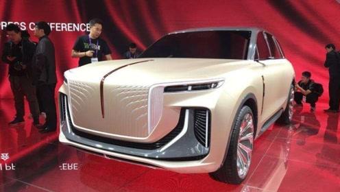 劳斯莱斯设计总监跳槽红旗,新作品SUV亮相车展,成为现场焦点