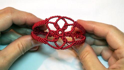手链编织教程,教你用线编织手镯手环