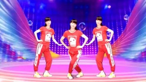 林子广场舞《又见山里红》动感弹跳16步健身操