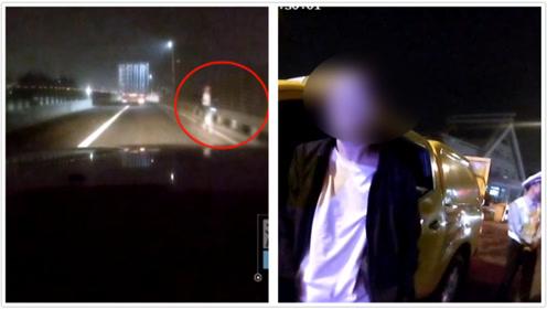 小伙半夜睡不着骑单车高速逆行游玩 民警救下:你这是在玩命啊!