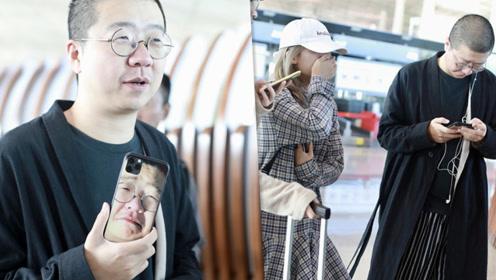李诞拿自己表情包做手机壳 娇妻黑尾酱素颜出镜露甜笑