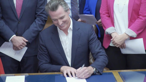 """美媒:加州州长签署全美""""最严控枪令"""""""