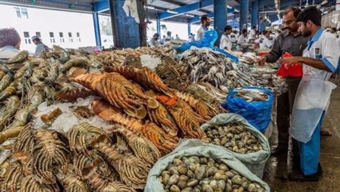 """镜头""""实拍""""迪拜菜市场,富豪们平时都吃些什么呢?场面让人大开眼界!"""