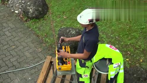 德国工程部门安装地下电缆,这操作太专业了,几十年都不用维护