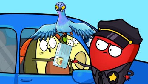 牛油果被一只鸟盯上了,不仅给他们搞出车祸,就连驾照都被叼走了!