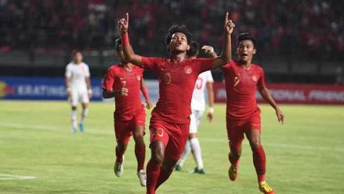 尴尬!中国U19国青1-3不敌印尼,全场仅4次射门