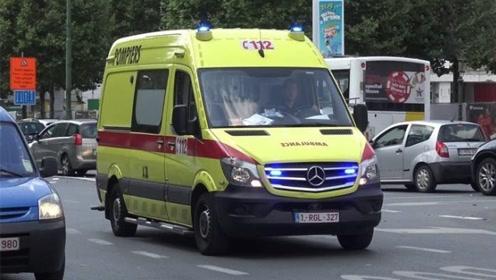 比利时救护车,鸣笛声相当魔性,网友:是想让病人笑醒?