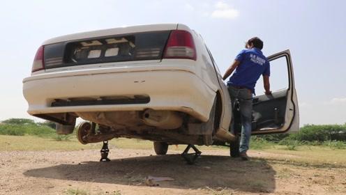 印度汽车没有轮胎也能开?油门一脚踩到底,结果不忍直视!