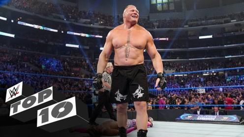 野兽秒炸约翰塞纳 猛兽大布秒杀科菲 WWE十大最快结束战斗的冠军赛