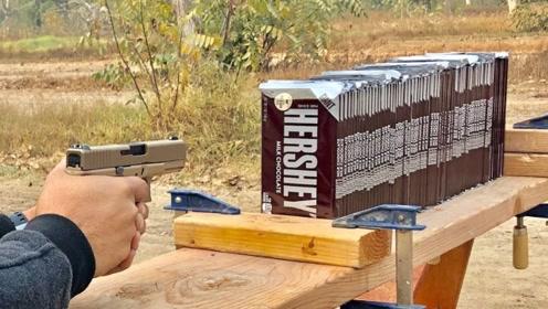 200块巧克力能挡住子弹?老外亲测,结果让人看完傻眼了!