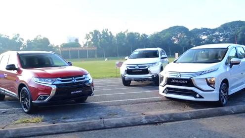 2020款三菱Xpander、帕杰罗Sport和欧蓝德场地四驱性能测试