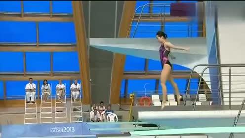 美女跳水太逗了!这水花估计裁判都懵了
