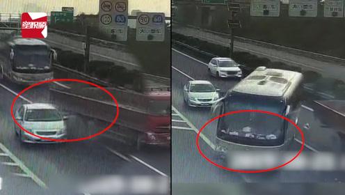 轿车高速路出口突然变道停车,后车惨遭殃:35条人命差点就没了