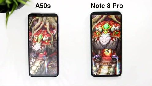 三星A50s快速对比红米note8Pro、安卓手机对看咋样呢