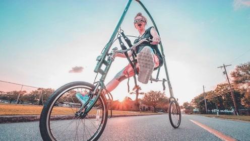 """世界上""""最舒服""""的自行车,把双腿当引擎,骑行瞬间速度让人羡慕"""