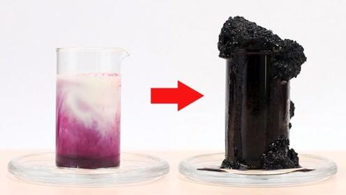 化学实验:将高锰酸钾倒进牛奶里,场面差点失控!