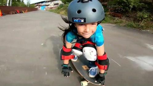 6岁小女孩去年实现单板滑雪540度后空翻,今年再创新记录