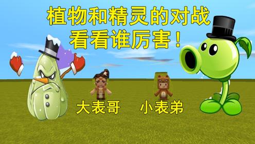 迷你世界:大表哥是精灵,小表弟是植物,植物和精灵的大对决!
