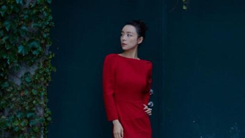 张静初美到惊艳,穿大红色收腰裙明艳动人,长发盘起更是减龄十足