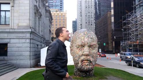 """世界上最""""恶心""""雕塑,全身粘满了口香糖,看似恶心却意义深远!"""