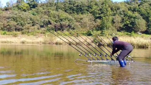 小伙摆放10根鱼竿很是神气,看到最终一天渔获,网友:打脸了!