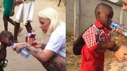 当年讨水喝的非洲男孩,如今过得怎么样了?看完潸然泪下!
