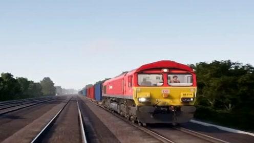 模拟驾驶:模拟驾驶开货车,场景太真实了,火车司机不难当!