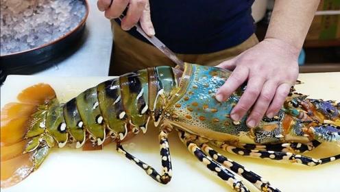 日本国家一级厨师切龙虾有多厉害?一刀下去4千块!太过惊艳!