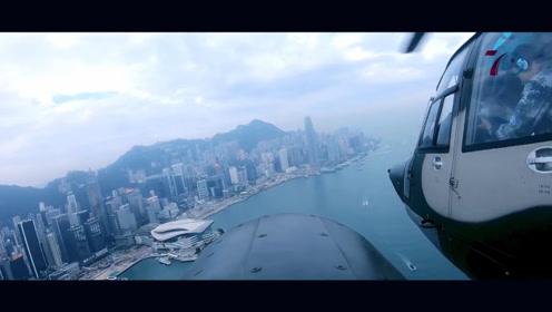 剑指苍穹!驻香港空军6架直升机穿云破雾 捍我领空不容任何侵犯