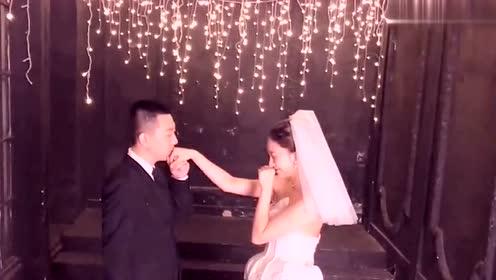 王小源去拍婚纱照了,郎才女貌,两个人太般配了
