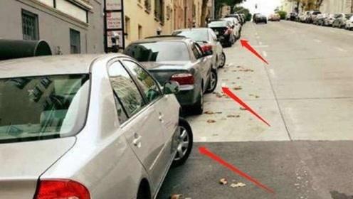 为何美国人停车总故意将车轮打歪?听朋友一说,终于明白了