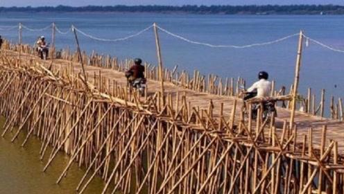 亚洲一纯手工桥:全长1千多米一年建一次,一天能收1500万过桥费