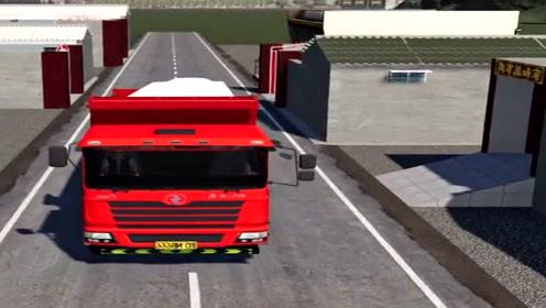 模拟驾驶:大货车倒车入库,场景太真实了,A本就是难!