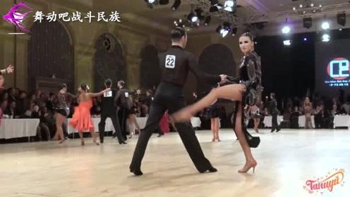 所到之处引起一片叫好声!俄罗斯女舞伴的表现太亮眼了