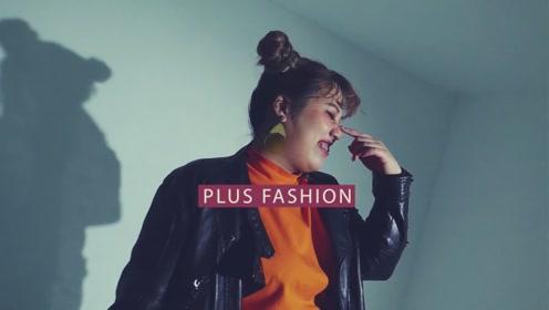 2019的秋天肉肉女孩怎么穿?珍珠耳环紫色外套,被夸斩男风格