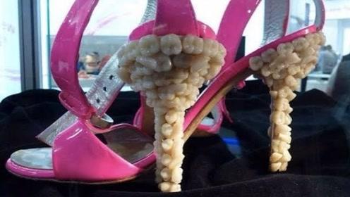 盘点:最古怪的5双高跟鞋,用30颗牙齿做鞋跟,模仿马的蹄子!